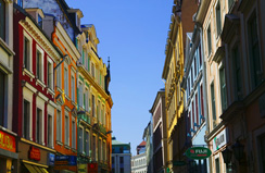 One of the colourful streets in Latvia.